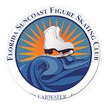 FSC Color Logo Round Car Magnet