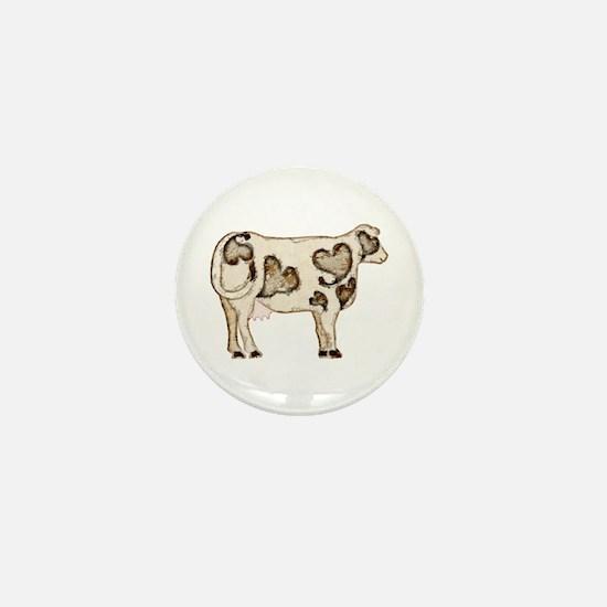 Love Cow Mini Button