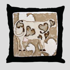 Love Cow Throw Pillow