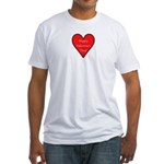 Valentine's Day Heart Fitted T-Shirt
