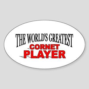 """The World's Greatest Cornet Player"" Sticker (Oval"