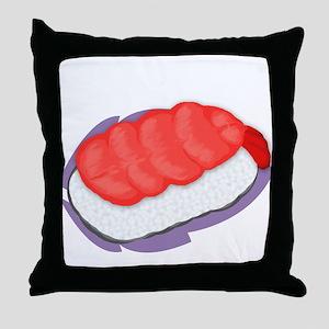 Shrimp Nigiri Throw Pillow