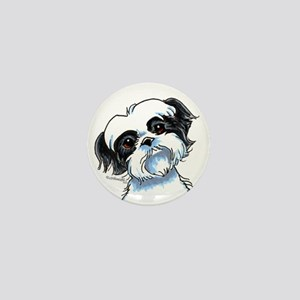 B/W Shih Tzu Art Mini Button