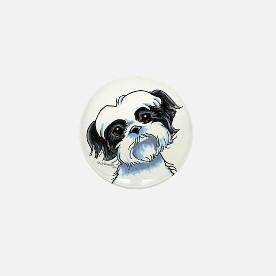 B/W Shih Tzu Art Mini Button