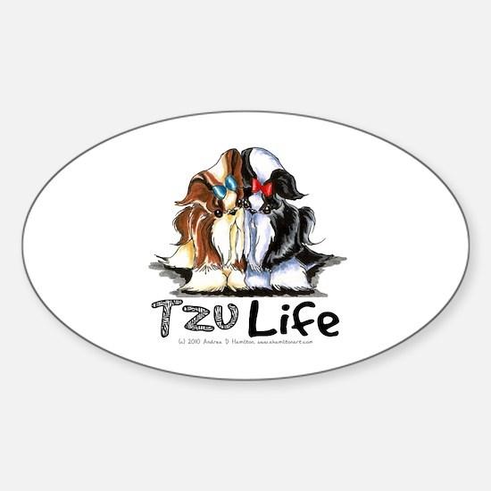 Tzu Life Sticker (Oval)