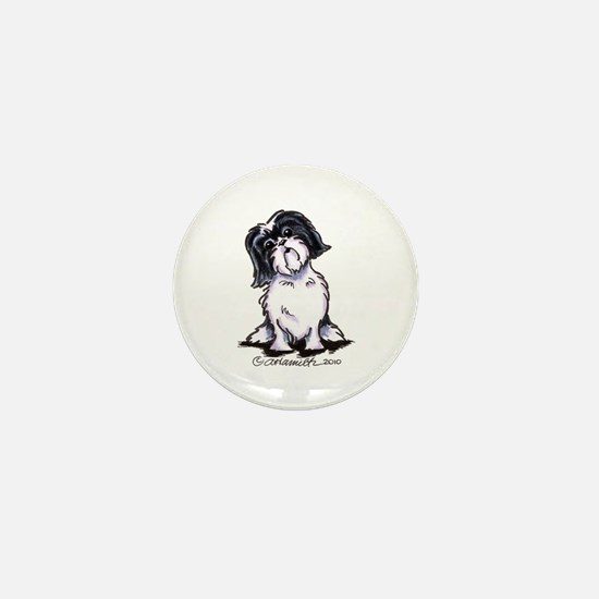 Shih Tzu Sit Pretty Mini Button