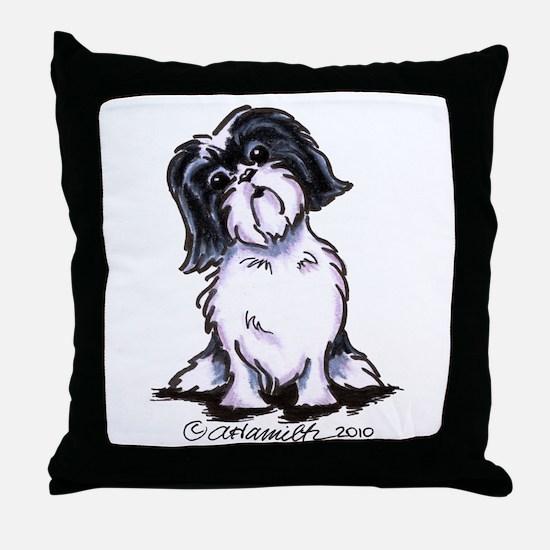Shih Tzu Sit Pretty Throw Pillow