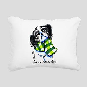 Shih Tzu B/W Scarf Rectangular Canvas Pillow
