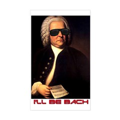 I'll Be Bach Rectangle Decal