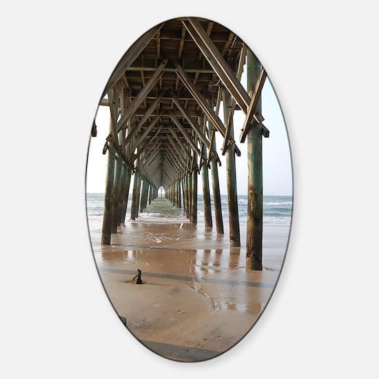 Under the Pier Sticker (Oval)