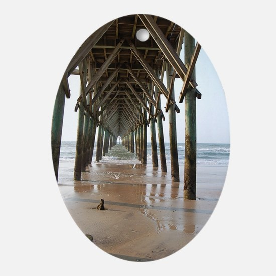 Under the Pier Oval Ornament