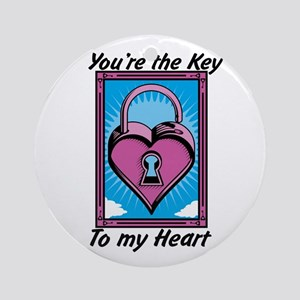 Valentines Day Key Ornament (Round)
