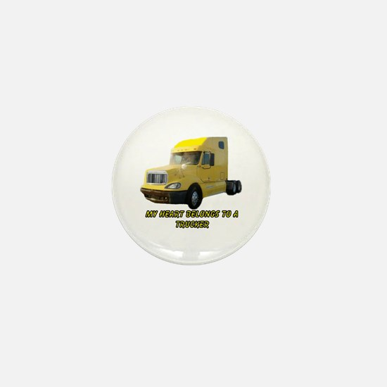 Yellow Truck Mini Button