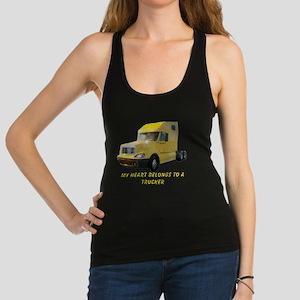 Yellow Truck Racerback Tank Top
