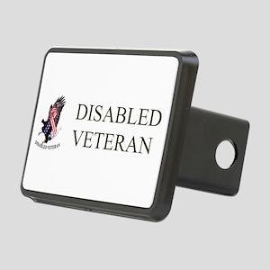 Disabled Veteran Eagle And Ribbon Rectangular Hitc