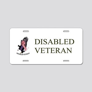 Disabled Veteran Eagle And Ribbon Aluminum License