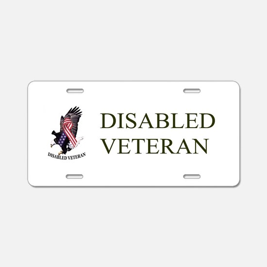 Disabled Veteran Eagle And Ribbon Aluminum License