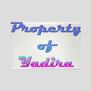 Property Of Yadira Female Rectangle Magnet