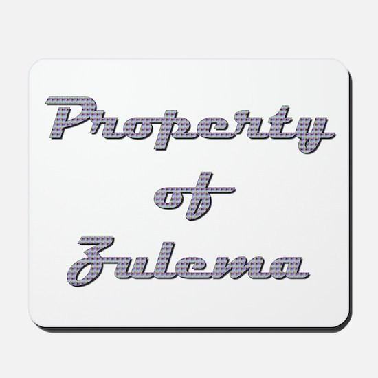 Property Of Zulema Female Mousepad