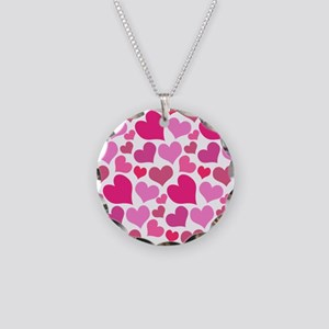 Pink Love Hearts Necklace