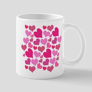 Pink Love Hearts Mugs