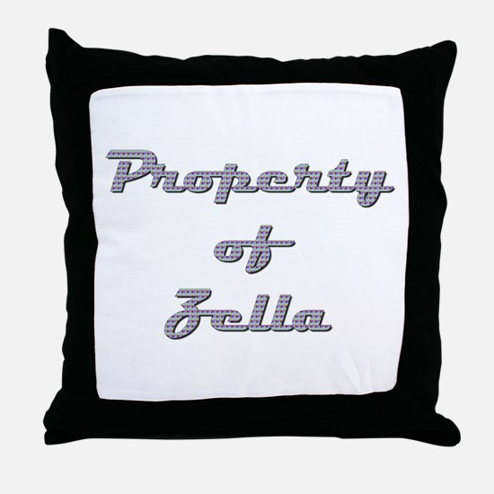 Property Of Zella Female Throw Pillow