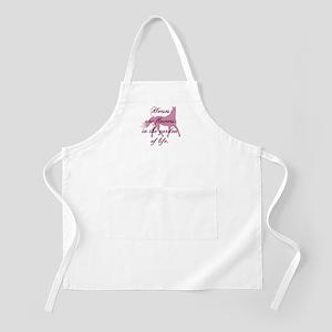 Horse Flowers BBQ Apron
