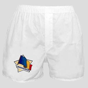 """Romania Star Flag"" Boxer Shorts"