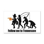 Follow Me To Tennessee Rectangle Car Magnet