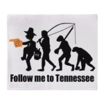 Follow Me To Tennessee Throw Blanket