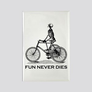 Fun Never Dies - Cycling Rectangle Magnet