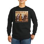 Horses in Corral Long Sleeve Dark T-Shirt