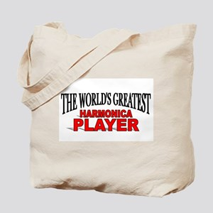 """""""The World's Greatest Harmonica Player"""" Tote Bag"""