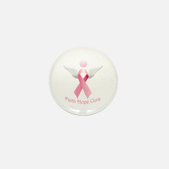 Faith Hope Cure Mini Button