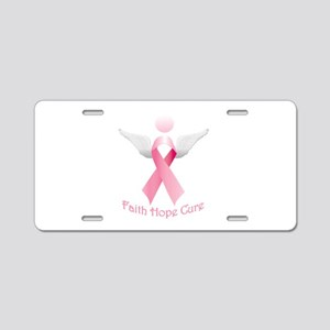 Faith Hope Cure Aluminum License Plate