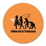 Follow Me To Tennessee Round Car Magnet