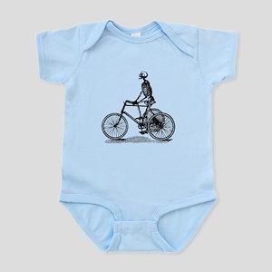 Skeleton on Bicycle Infant Bodysuit