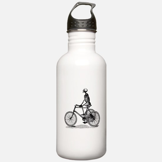 Skeleton on Bicycle Water Bottle