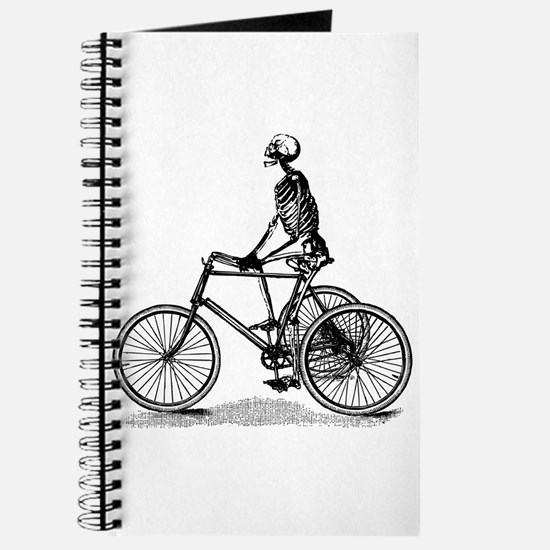 Skeleton on Bicycle Journal