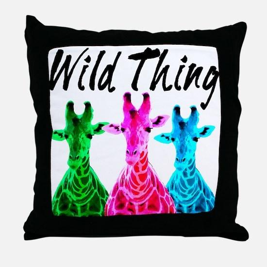 WILD GIRAFFE Throw Pillow