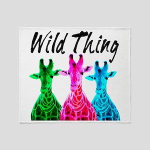 WILD GIRAFFE Throw Blanket