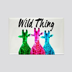 WILD GIRAFFE Rectangle Magnet