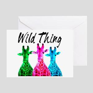 WILD GIRAFFE Greeting Card