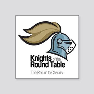 "knights-logo-shirt-BLACK Square Sticker 3"" x 3"""