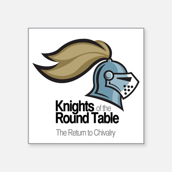 "knights-logo-shirt-BLACK Square Sticker 3"" x 3"""
