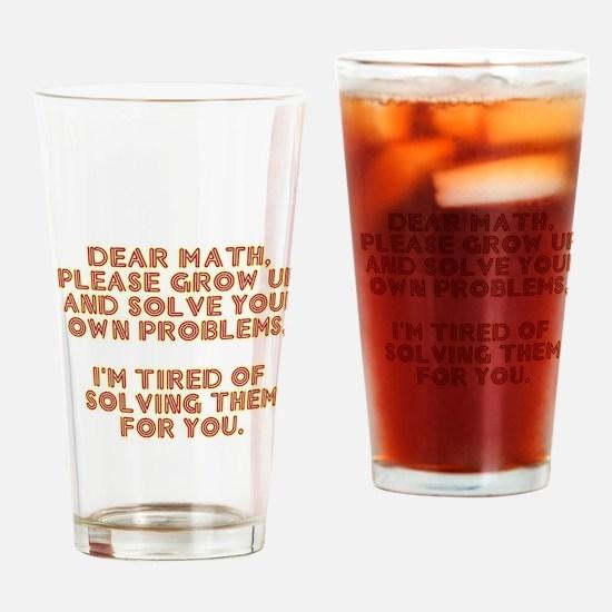 dear math Drinking Glass