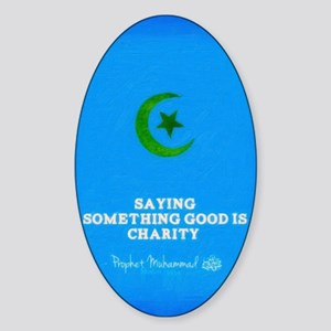 islam and charity  Sticker (Oval)