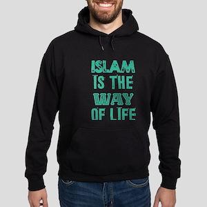 Islam is the way of life Hoodie (dark)