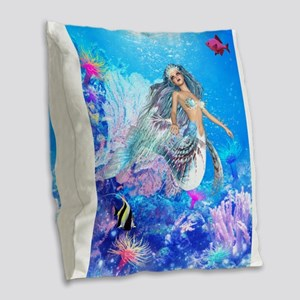 Best Seller Merrow Mermaid Burlap Throw Pillow