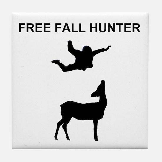 free fall hunter Tile Coaster
